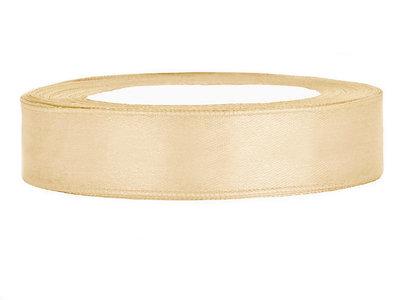 Satijn lint 1 cm goud