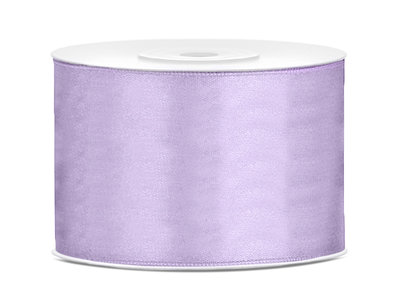 Satijn lint 50 mm lavendel