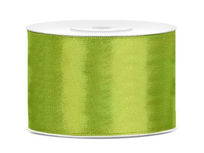 Satijn lint 50 mm lime groen
