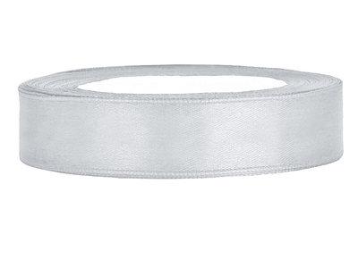 satijn lint 1.5 cm breed zilver