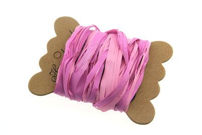 Raffia roze tweekleurig