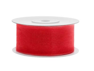 Organza lint 50 mm rood