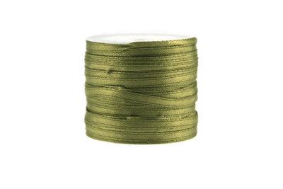 10 meter Satijn lint 3 mm olijf groen