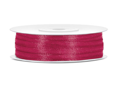 50 meter satijn lint 3 mm cerise