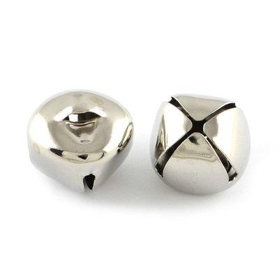 Belletjes zilver 1 cm 10 stuks