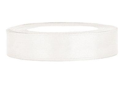 Satijn lint 2 cm breed Ivoor