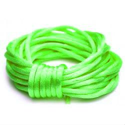 Satijnkoord 2 mm fel groen