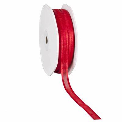 Organza satijn lint 1 cm Rood