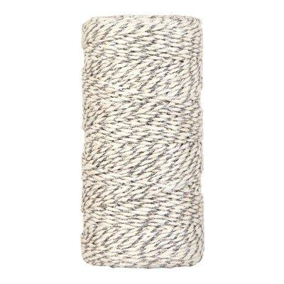 Bakkerstouw off-white zilver metalic 100 meter