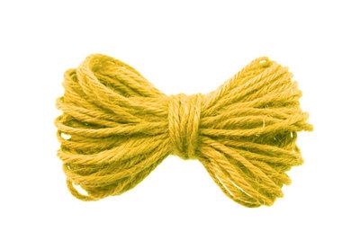 10 meter Hennep touw geel