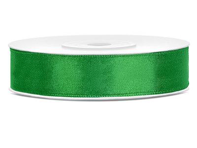 Dubbelzijdig satijn lint 1 cm breed groen