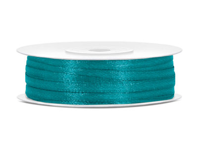 50 meter satijn lint 3 mm aqua
