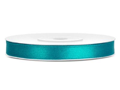 Satijn lint 6 mm Aqua