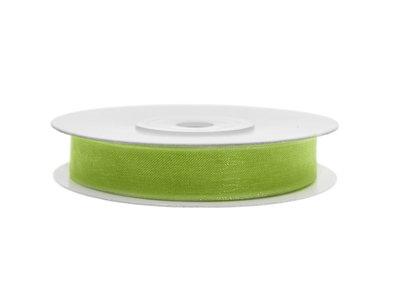 Organza lint 6 mm lime groen