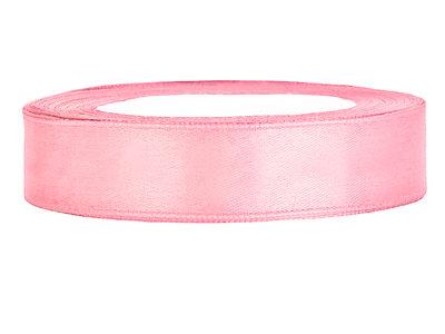 Satijn lint 1.5 cm breed licht roze 54 meter