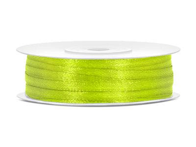 50 meter satijn lint 3 mm lime groen
