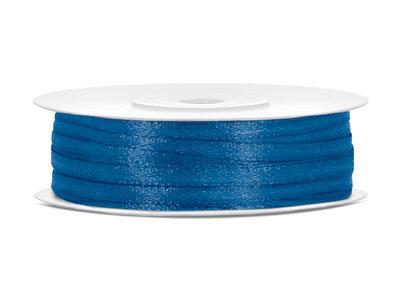 satijn lint 3 mm blauw