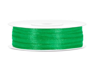 Dubbelzijdig satijn lint 3 mm flessen groen