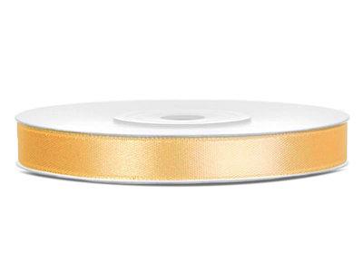 Satijn lint 6 mm goud