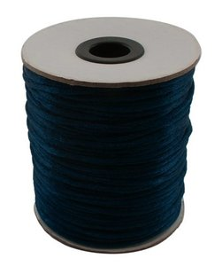 Satijnkoord 2 mm donker blauw 100 yard rol - 91.4 meter