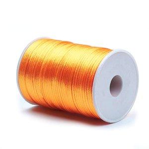 Satijn koord 2 mm licht oranje 73 meter rol