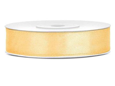 Dubbelzijdig satijn lint 1,5 cm breed goud