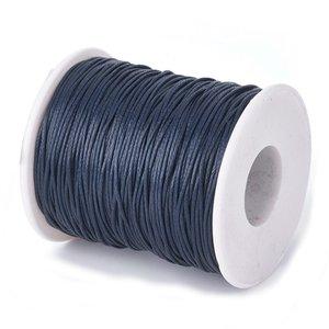 Waxkoord 1 mm donker blauw