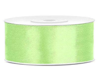 Satijn lint 25 mm pastelgroen