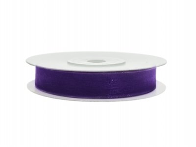 Organza lint 6 mm Paars