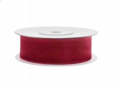 Diep rood organza lint 2 cm breed