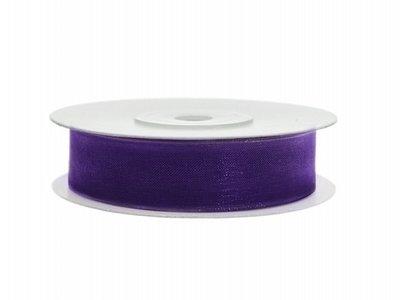 Organza lint 12 mm Paars