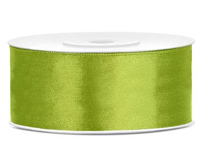 Satijn lint 25 mm Lime groen