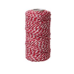 Bakkerstouw rood wit 90 meter