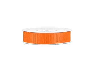 Grosgrain lint 15 mm oranje