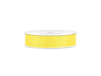 Grosgrain lint 15 mm geel