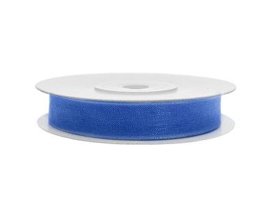 Organza lint 6 mm blauw