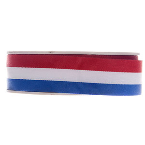 Lint rood wit blauw 25 mm breed