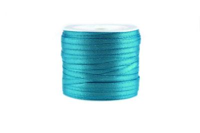 Satijn lint 3 mm Aqua