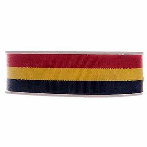 Lint België rood geel zwart 25 mm breed