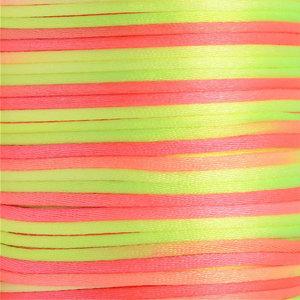 Satijnkoord 2 mm geel oranje