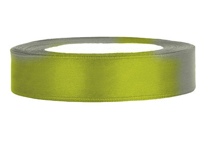 Satijn lint 1 cm lime groen