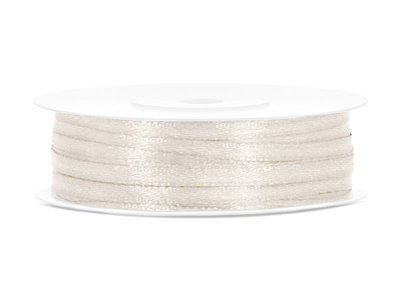 50 meter satijn lint 3 mm beige