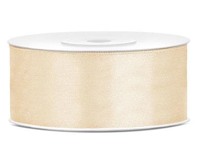 Dubbelzijdig satijn lint 25 mm goud