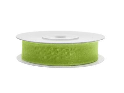 Organza lint 12 mm breed lime groen
