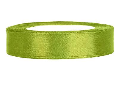 Satijn lint 1 cm breed lime groen