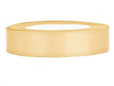Satijn lint 1 cm breed goud
