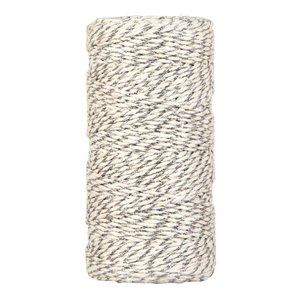Bakkerstouw off-white zilver 100 meter