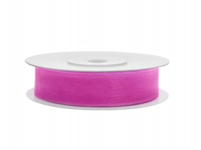 Organza lint 15 mm breed fuchsia