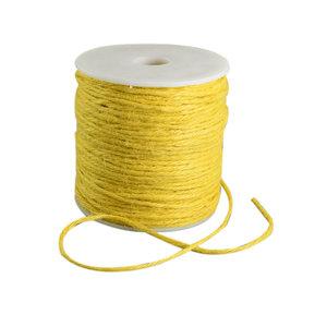 100 meter Hennep touw geel