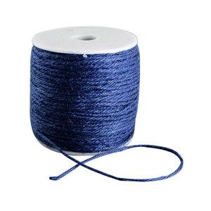 100 meter Hennep touw blauw